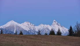 Mount Slesse at sunset Royalty Free Stock Image