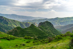 Mount with Smbataberd fortress on top, Armenia Royalty Free Stock Photos