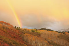 Mount Sneffels, Colorado. Mount Sneffels with rainbow, Colorado, USA royalty free stock image