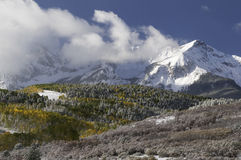 Mount Sneffels Mountain Range in Autumn Stock Photos