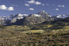 Mount Sneffels Mountain Range in Autumn Royalty Free Stock Photography