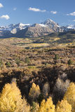Mount Sneffels Mountain Range in Autumn Stock Photography