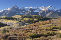 Mount Sneffels Mountain Range in Autumn Royalty Free Stock Image