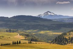Mount Sniffles from Last Dollar Road Colorado. Mount Sniffles from Last Dollar Road Colorado, USA Stock Images