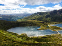 Mount Snowdon. Hiking trails to the summit of Mount Snowdon, Snowdonia, Wales Royalty Free Stock Image