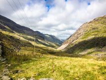 Mount Snowdon. Hiking trails to the summit of Mount Snowdon, Snowdonia, Wales Stock Images