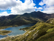 Mount Snowdon. Hiking trails to the summit of Mount Snowdon, Snowdonia, Wales Royalty Free Stock Photo