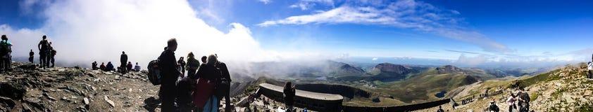 Mount Snowdon. Hiking trails to the summit of Mount Snowdon, Snowdonia, Wales Royalty Free Stock Photos