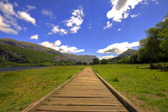 Mount Snowdon railway track Royalty Free Stock Images