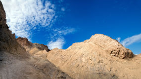 Mount Sodom. Mount Sodom is a hill along the southwestern part of the Dead Sea in Israel, part of the Judean Desert Nature Reserve.  It is most remarkable Stock Photography