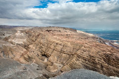 Mount Sodom, the southern part of the Dead Sea. Royalty Free Stock Image
