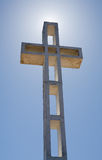 Mount Soledad Cross with Sun Behind Stock Image
