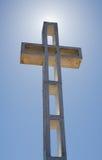 Mount Soledad Cross with Sun Behind Stock Image