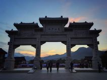 Mount Song door sunset view Royalty Free Stock Image