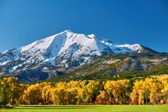 Mount Sopris autumn landscape in Colorado. Rocky Mountains, USA stock image