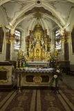 Mount St. Anna, Poland, February 4, 2017: Inside the Basilica of Stock Images