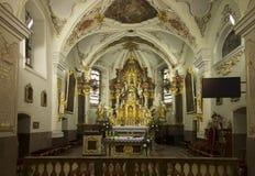 Mount St. Anna, Poland, February 4, 2017: Inside the Basilica of Royalty Free Stock Photo