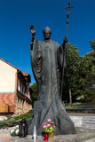 Mount St. Anna, Poland - July 7, 2016: Statue of Pope John Paul Stock Photo