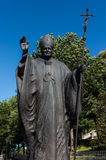 Mount St. Anna, Poland - July 7, 2016: Statue of Pope John Paul Stock Images