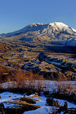 Mount St. Helen. National Monument at winter time royalty free stock image