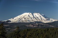 Mount St. Helens on a clear day Royalty Free Stock Photo