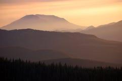 Mount St. Helens Dusk, Washington state Stock Photos
