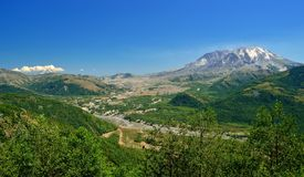 Mount St Helens and Mount Adams Royalty Free Stock Photo