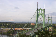 Mount St. Helens and St. John's Bridge Stock Image