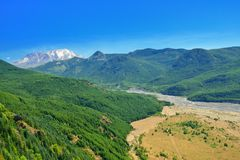 Mount St Helens and valley Stock Photography