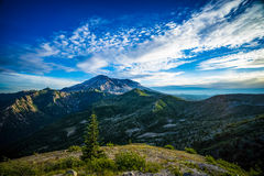 Mount St. Helens volcano and the blast zone landscape Stock Photography