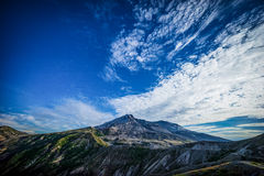 Mount St. Helens volcano and the blast zone landscape Stock Photo