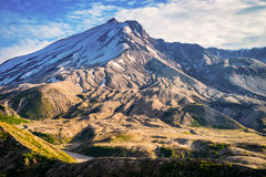 Mount St. Helens volcano and the blast zone landscape Royalty Free Stock Photo