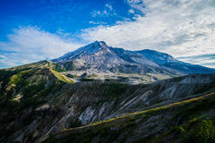 Mount St. Helens volcano and the blast zone landscape Stock Image