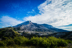 Mount St. Helens volcano and the blast zone landscape Royalty Free Stock Images