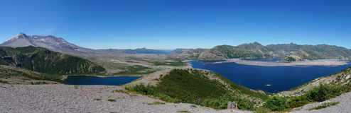 Mount St. Helens volcano and Spirit Lake 35 years after eruption
