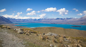 Mount St. John at Lake Tekapo Royalty Free Stock Images