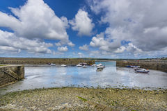 Mount st michael island harbor Royalty Free Stock Photos