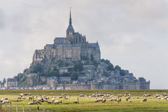 Mount St Michel in Normandy Stock Photos
