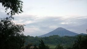 Mount sumbing view. In the morning Stock Images