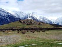 Edoras of Rohan; Mount Sunday, New Zealand Royalty Free Stock Image