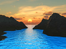Mount sunset Royalty Free Stock Images