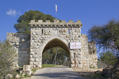 Mount Tabor Gates of All Winds, Israel. Mount Tabor Gates of All Winds out of the church of the Transfiguration-Place of the biblical event of transfiguration Stock Photography