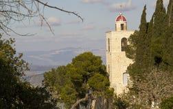 Mount Tabor - Greek Orthodox  Monastery ,Israel. Mount Tavor Greek Orthodox monastery, St. Elias, named after Elijah the prophet ,Israel Royalty Free Stock Photo