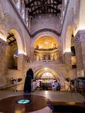 MOUNT TABOR, ISRAEL, July 10, 2015: Inside the Church of the Tra Royalty Free Stock Photos