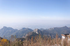 Mount Tai China Stock Photo