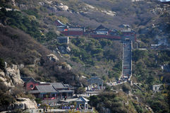 Mount Tai China Summit. The many tourists walking near the hotels and Confucius Temple on top of Mount Tai (taishan) in Shandong province China Stock Photography