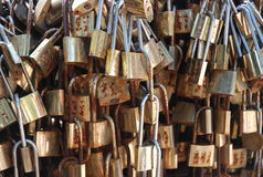 Mount tai's locked. ,Many rusty lock together Stock Images