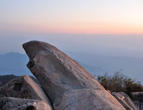 Mount Tai Sunrise Stock Photography