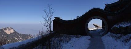 Mount taishan east peak shandong Stock Photography