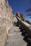 Mount taishan steep steps shandong province Stock Image